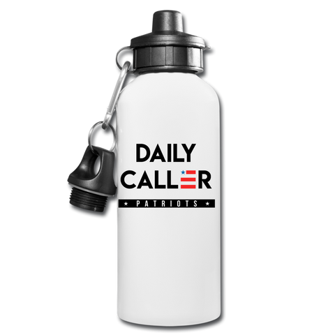 Daily Caller Patriots Water Bottle - white