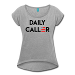 Women's Daily Caller Roll Cuff T-Shirt - heather gray