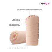 Neojoy Anal Opening Stroker Sex Doll TPE Realistic Vagina & Ass - Flesh - 4.3 inch - 11cm Realistic Vaginas - lucidtoys.com Dildo vibrator sex toy love doll
