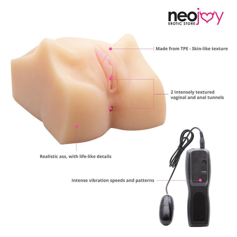 Neojoy Sex Doll TPE Realistic Vibrating Vagina & Ass Male Masturbator - Small 2.55 Kg Realistic Vaginas - lucidtoys.com Dildo vibrator sex toy love doll