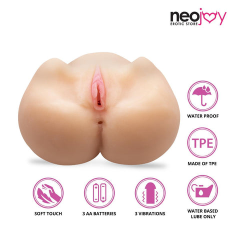 Neojoy Sex Doll TPE Realistic Vibrating Vagina & Ass Male Masturbator - Medium 6Kg Realistic Vaginas - lucidtoys.com Dildo vibrator sex toy love doll