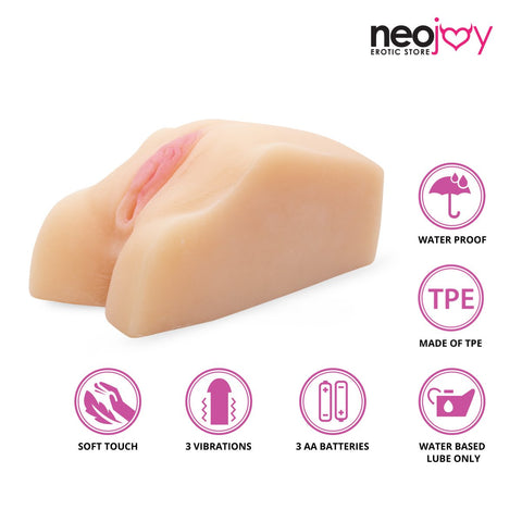 Neojoy Male Pleasure Sex Doll TPE Realistic Vibrating Vagina & Ass Male Masturbator - Flesh - 0.9Kg Realistic Vaginas - lucidtoys.com Dildo vibrator sex toy love doll