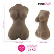 Neojoy - Fantasy Doll 21Kg (Brown)| Large Size Love Doll Torso - TPE - 66cm | NeoDoll
