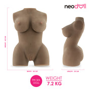 Neojoy - Mary Jane Love Doll - Brown - Lifelike Sex Doll Realistic Vagina, Ass and Breasts - Skinlike Love Doll Masturbator