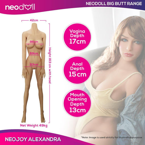 Neojoy Big Butt Alexandra - Realistic Sex Doll - 163cm