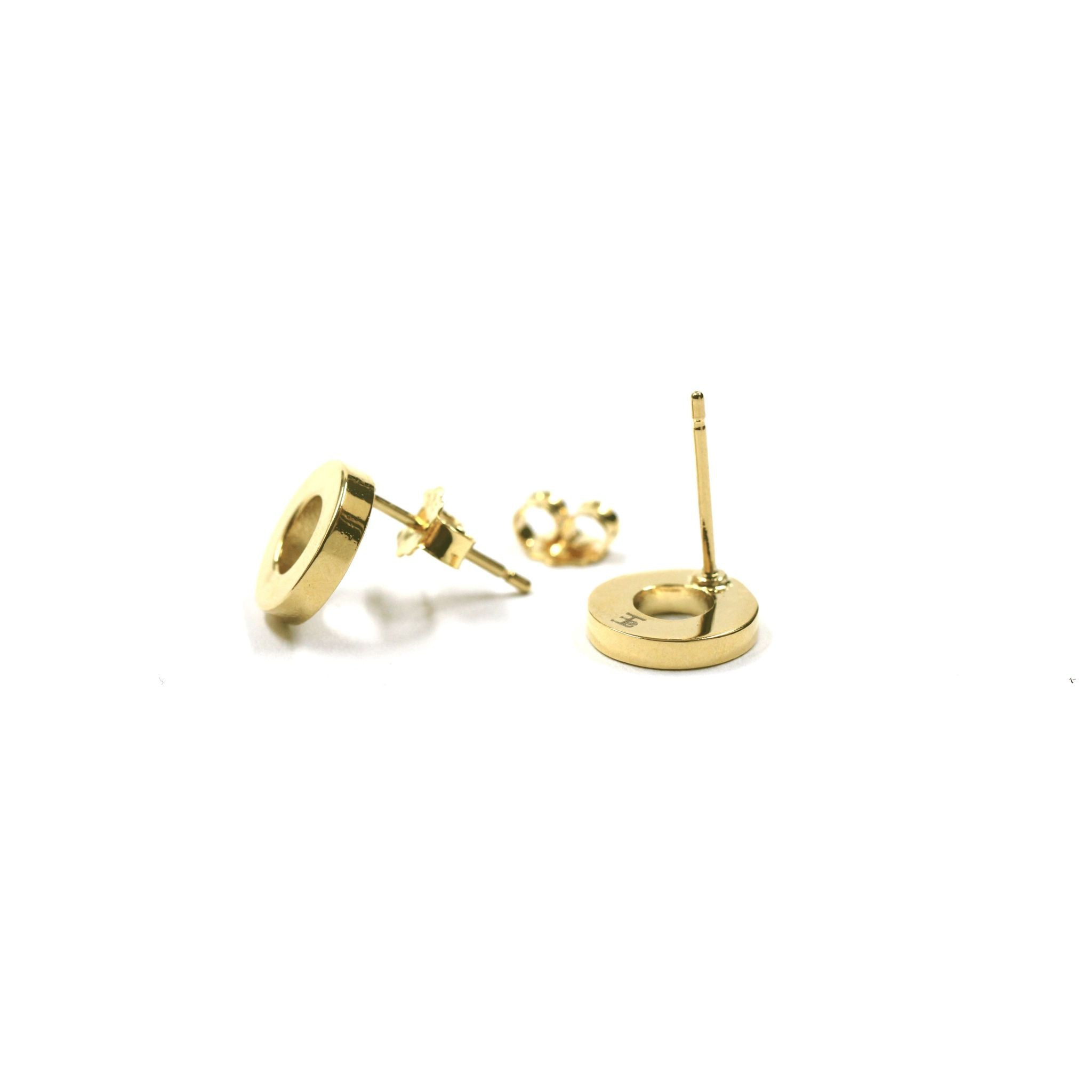 Fang Yuan Circle Earrings Yellow Gold-Earrings-Everard & Wang