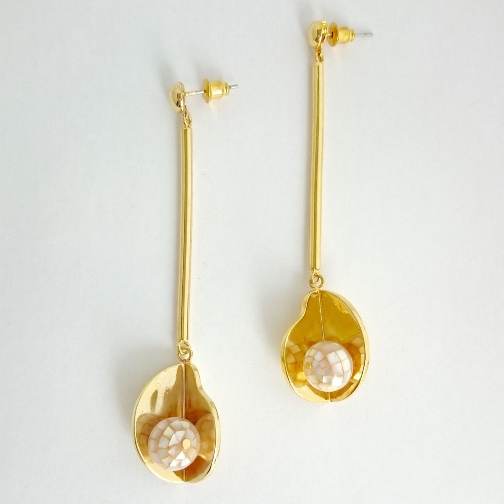 Memphis Long Earrings-Earrings-Everard & Wang