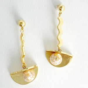 Memphis Wave Earrings-Earrings-Everard & Wang