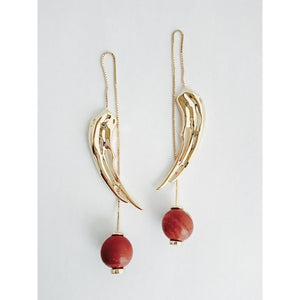 Straight Brush Stroke Drop Earrings-Earrings-Everard & Wang