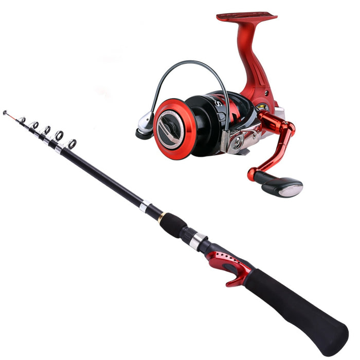Edies Spinning Fishing Rod & Reel Combo Set