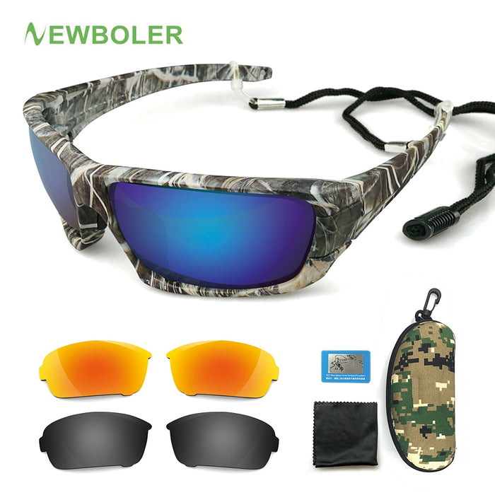 Polarized Fishing Sunglasses Camouflage Frame