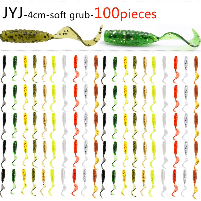 100 Piece Soft Plastic Jig Head baits