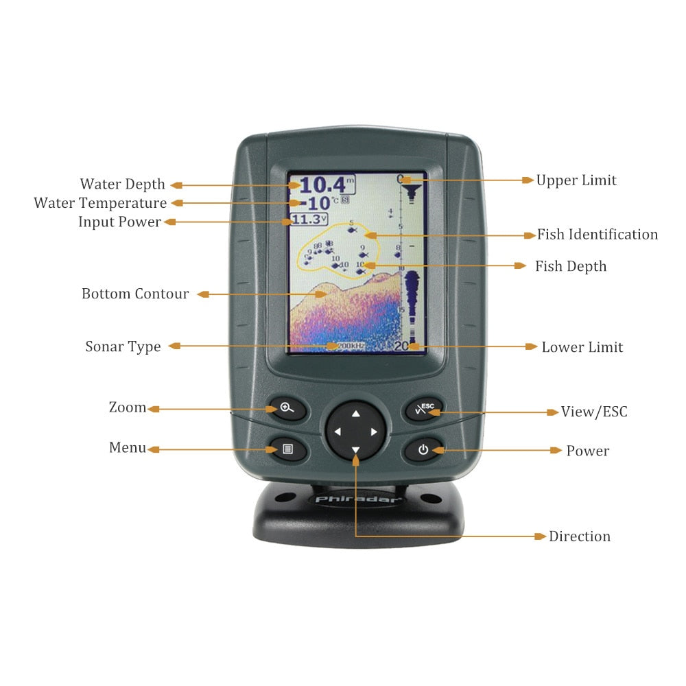 "Edies Fish Finder 3.5"" LCD 0 to 900'"