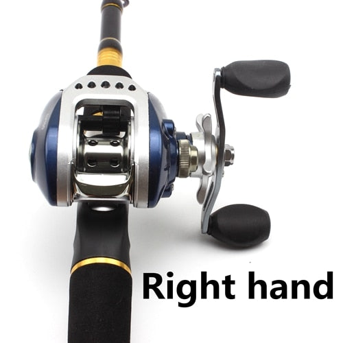 Telescopic Bait Casting Rod and Reel Combo Set Carbon