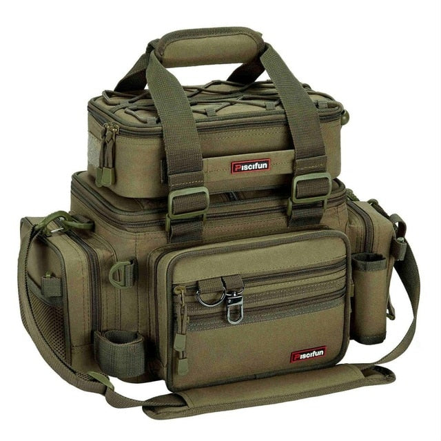 Edies Large Capacity Fishing Bag Style Tackle Box Bag