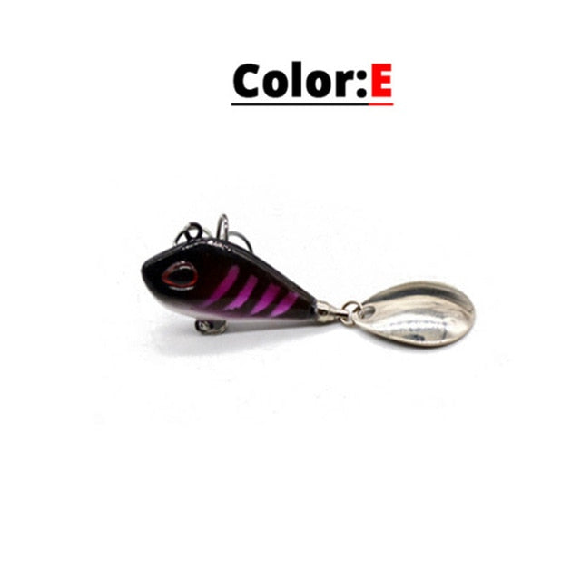 Sinking Rotating Spoon Pin Crankbait