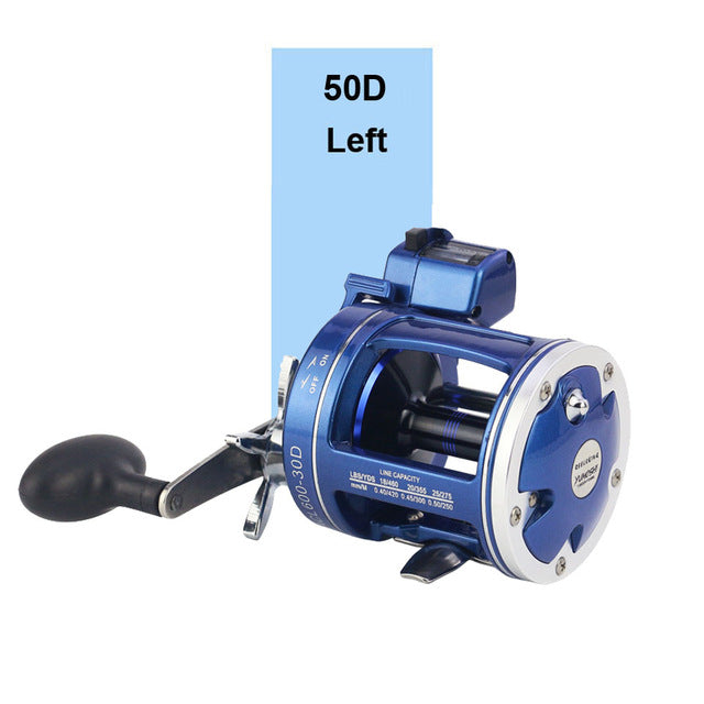 Saltwater Baitcasting Reel 12 Ball Bearings Cast Drum Wheel