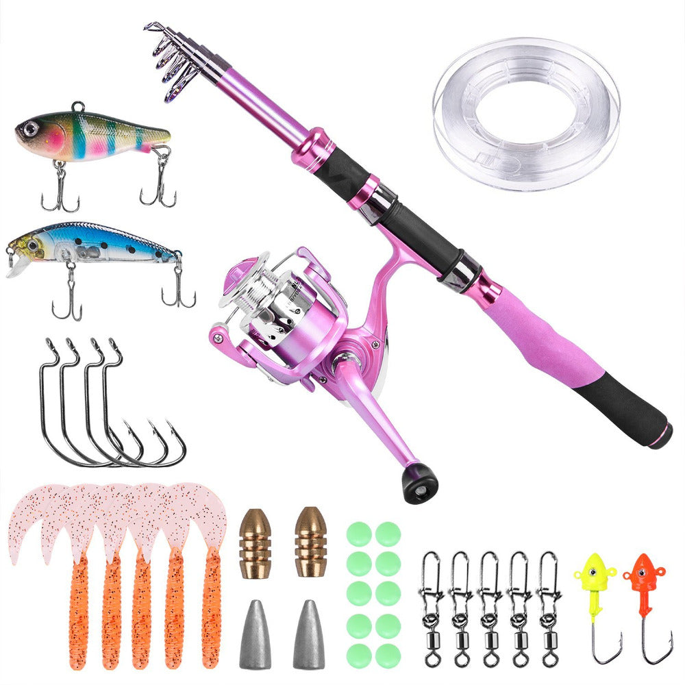 Ladies Telescopic Spinning Rod and Reel Combo