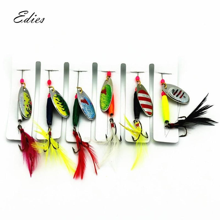 6 Piece Spinner Bait Set