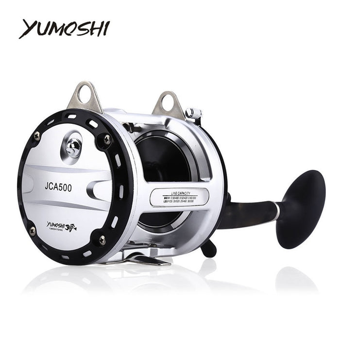 YUMOSHI 12 + 1 Ball Bearings High Speed Cast Drum Fishing Reel RH