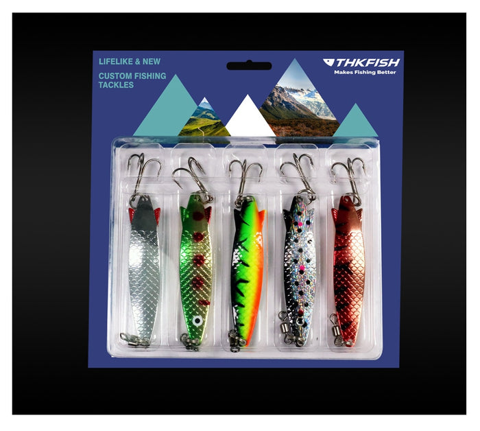 5 Piece  Swim bait Vibrating Fishing Lure Set