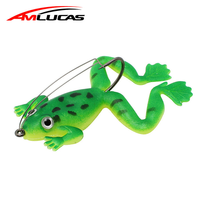 Weedless Frog Fishing Lure 2.4 inches long
