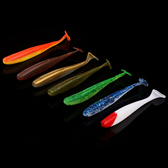 6 Piece Easy Shiner Soft Lures for Jigging Action