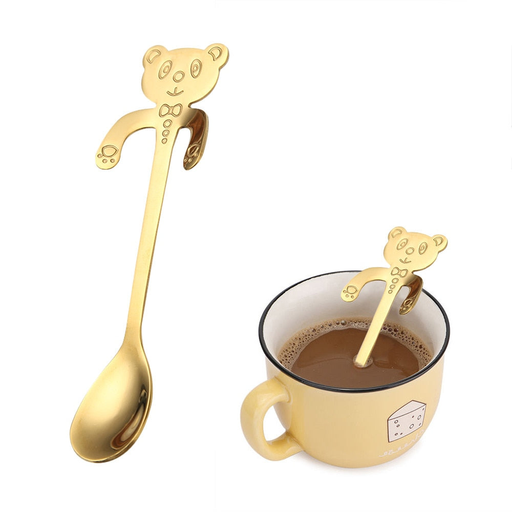 Cute Cartoon Cat Stainless Steel Spoon