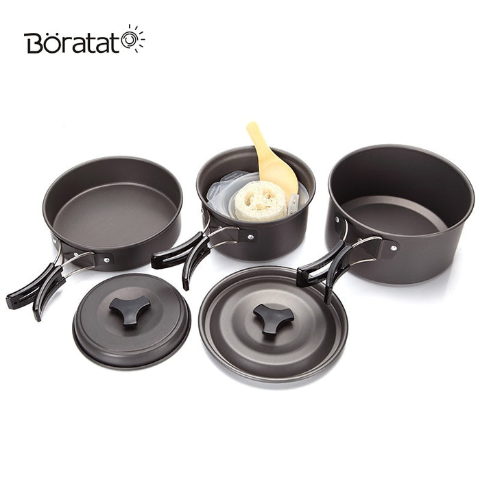9 Piece Outdoor Cookware Set