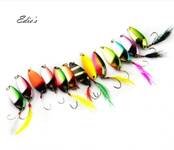 20 Piece Spoon Lure Bait Set