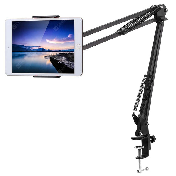 Mobile Holder Table Mount Fully Metal Flexible Clip Fold-able Arm Bracket for Both Mobiles and Tablets/iPad/Kindle Mobile Holder Multi-color