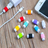 Cable end protectors for Apple iPhone 4, 5, 5S, 6, 6 Plus and iPad charging lightning cable end protectors 2 Pair (4 pieces) Assorted colors Cable Drop Clip (Mullti Color)