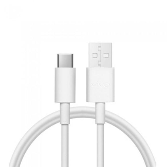 Vivo X50 Pro Original Flashcharge 2.0 Type C Cable And Data Sync Cord-White