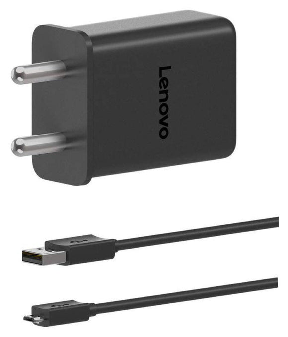 Lenovo K6 Power 3 Amp Mobile Charger with 1.2 Mt Fast Charging Cable Black