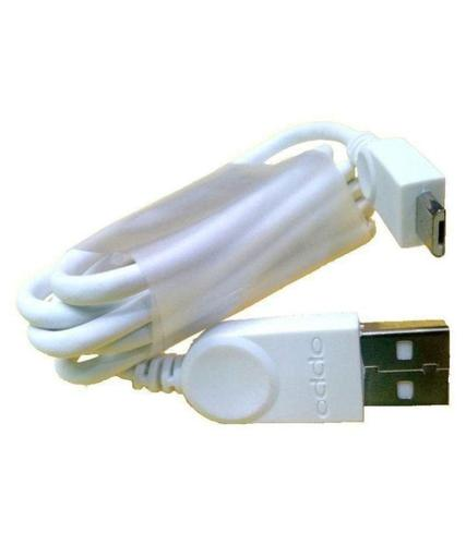 Data Cable Charge And Sync Cable for Oppo Devices-1M-White-chargingcable.in