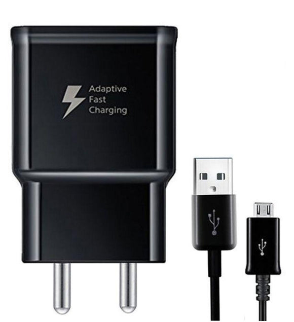 Samsung Galaxy J6 Mobile Charger 2 Amp Support Fast Charge With Cable Black-chargingcable.in