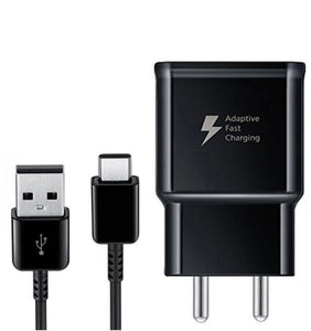 Samsung Galaxy A10e Type C Adaptive Fast Mobile Charger With Cable Black-chargingcable.in