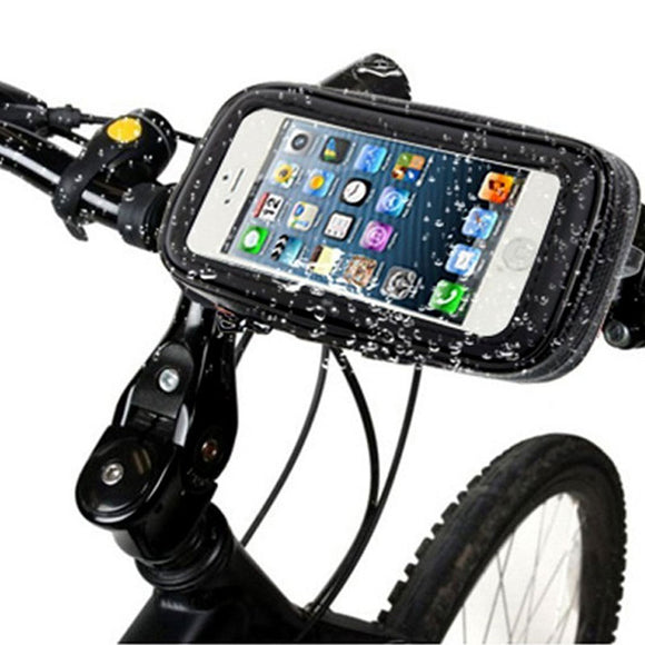 Waterproof Bike/Motorcycle Mobile Holder Zip Pouch Style Having 360 rotation Bike Mobile Holder (Black)