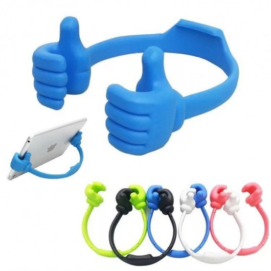 Ok Stand With Flexible Portable Mount Cradle Thumb Mobile Holder (Pack of 2) Multicolor