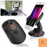 Mouse Design Car Mobile Holder for Dashboard and Wind Shield Black