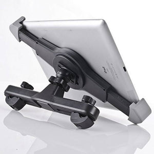 "Car Back Seat Headrest Tablet Cradle & Mount - 360° Degree - Adjustable Rotating Mobile Holder for iPad & Other Tablets Upto 7"" to 11"" Kindle/iPad/Tablets (Black & White)"