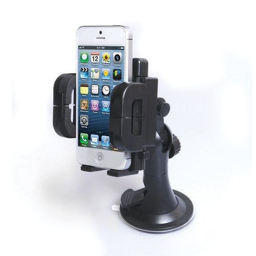 Car Mobile Holder for Dashboard, Windshield (Black)