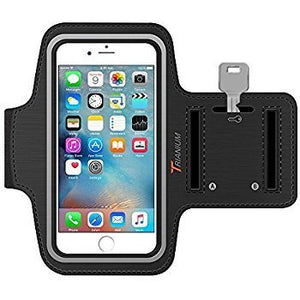 Running Sports Arm Band for Android/iOS Phones Fitness Band Mobile Holder (Black)