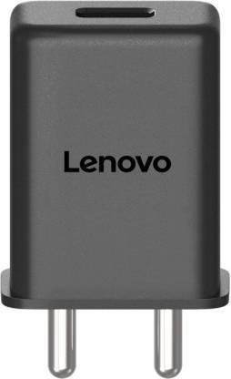 Lenovo K9 Note 3 Amp Mobile Charger with 1.2 Mt Fast Charging Cable Black