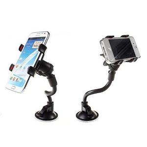 Car Mobile Holder Universal With 360 Degree Rotation For Windshield, Dashboard (Black)