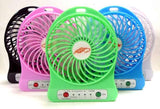 Mini Portable Circular Fan Cooling Blade less Air Conditioner with FRAGRANCE Water Cooler USB Fan (Multi-Color)