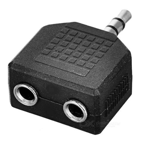 Duisah Audio Splitter Black For All Smart Phones