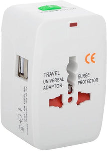 Universal Travel Adapter (with Power Indicator Light) Worldwide Travel Adapter (White)