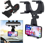 Universal 360 Degree Rotation Car Rear view Mirror Mount Mobile Holder
