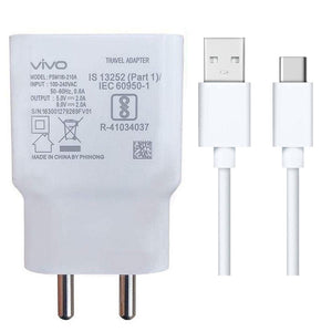 Vivo iQ00 Neo Dual Engine Fast Mobile Charger with Type C Cable-chargingcable.in